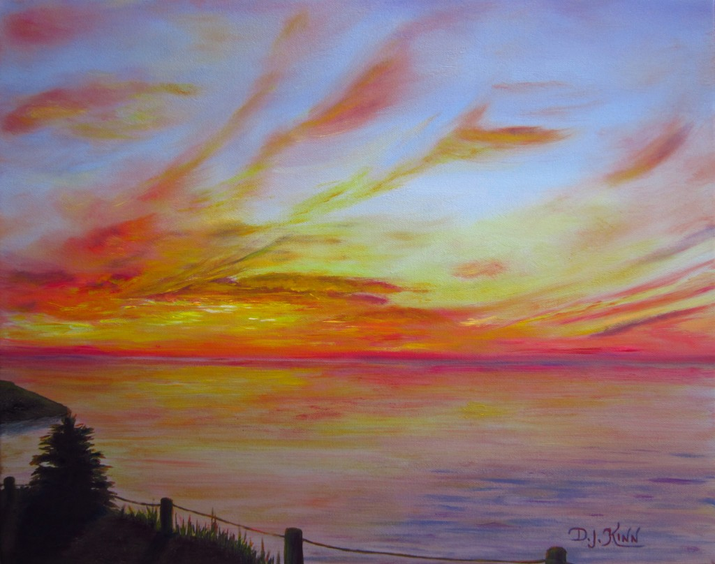 Sunset I, 16x20 Oil on Stretched Canvas, $900
