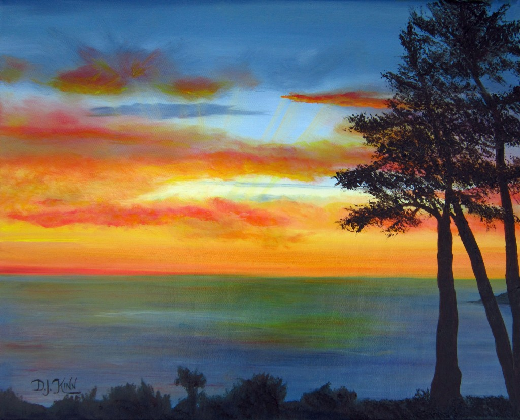 Sunset III, 16x20 Oil on Stretched Canvas, $2,560