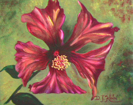 Thai Hibiscus, 8x10 oil on stretched canvas, $396