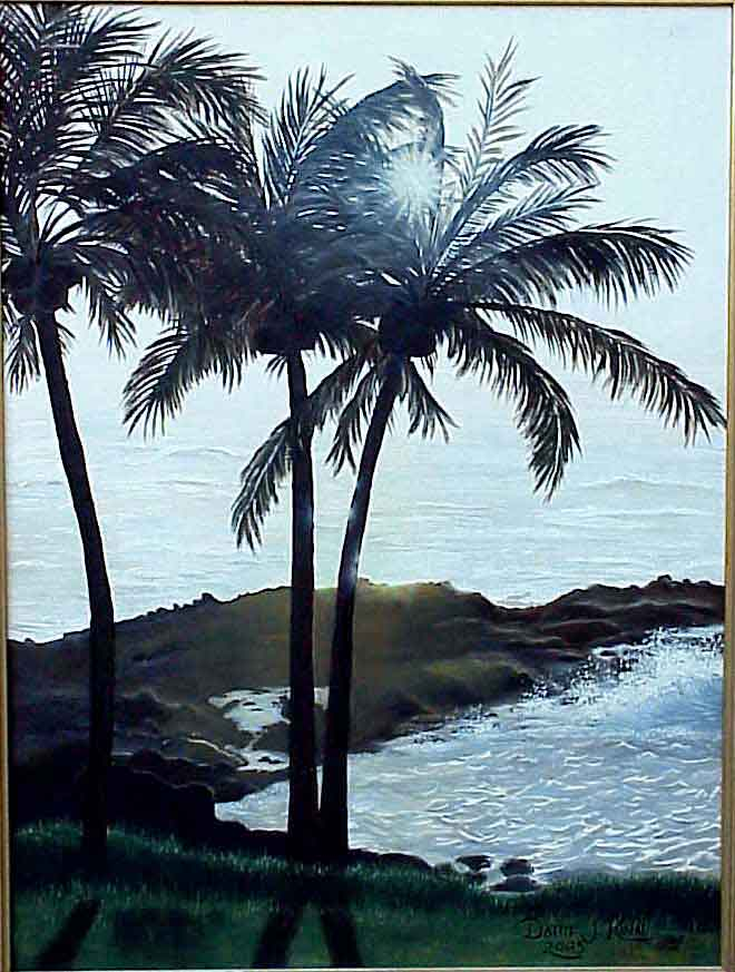 Tropical Evening, 18x24 Oil on Stretched Canvas, $1050