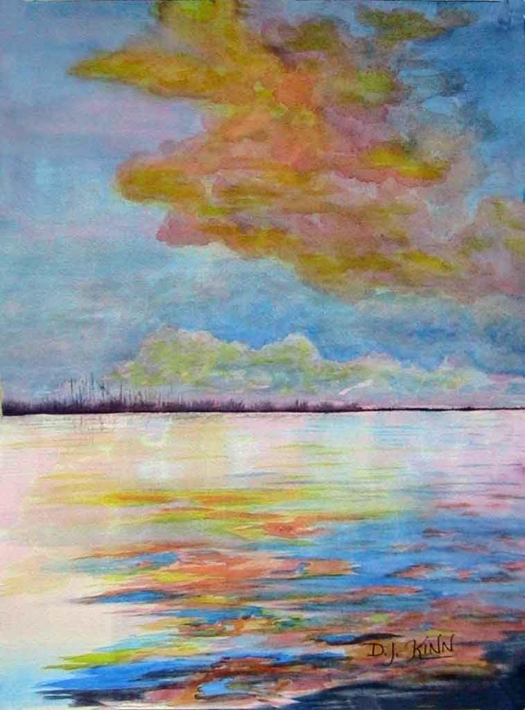 Serenity, 16x20 Watercolor, $540