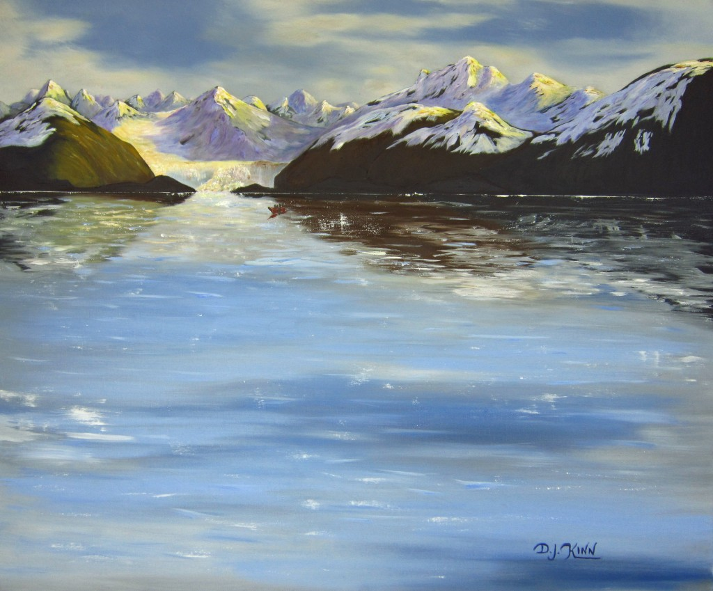 Alaskan Glacier II, 24x30 Oil on Stretched Canvas, $5,760